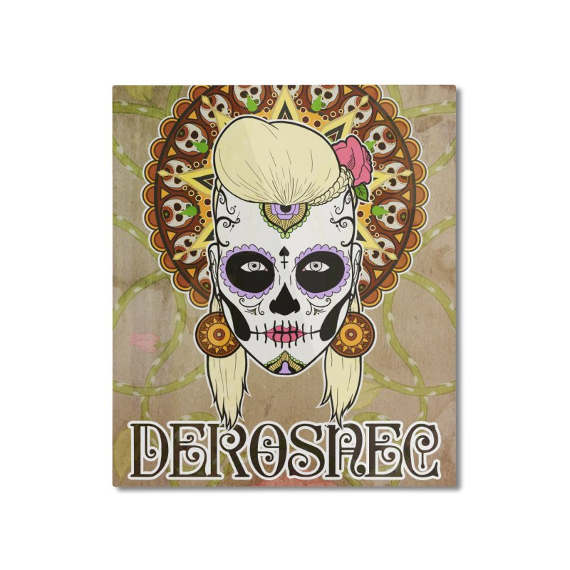 DEROSNEC - Bed of Roses, Muerta (Color) Home Mounted Aluminum Print by Oh Just Peachy Studios Music Store