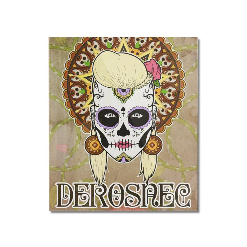 DEROSNEC - Bed of Roses, Muerta (Color) Home Mounted Acrylic Print by Oh Just Peachy Studios Music Store