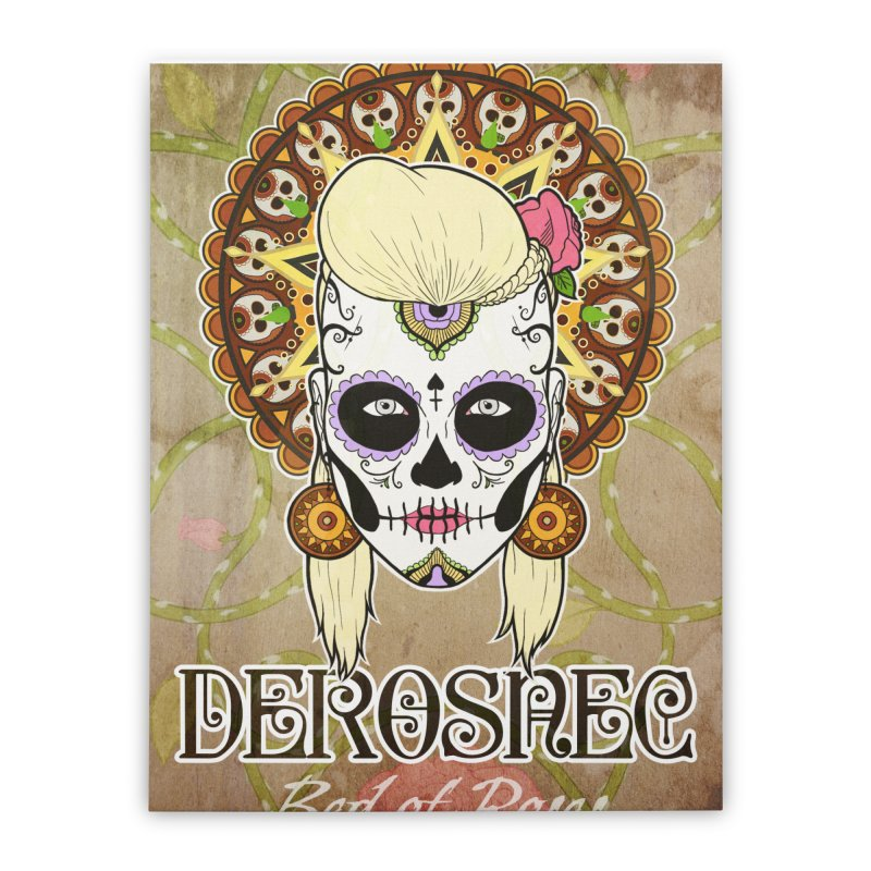 DEROSNEC - Bed of Roses, Muerta (Color) Home Stretched Canvas by Oh Just Peachy Studios Music Store