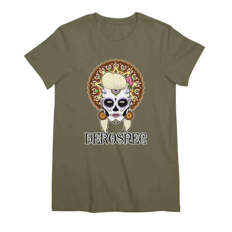 DEROSNEC - Bed of Roses, Muerta (Color) Women's Premium T-Shirt by Oh Just Peachy Studios Music Store