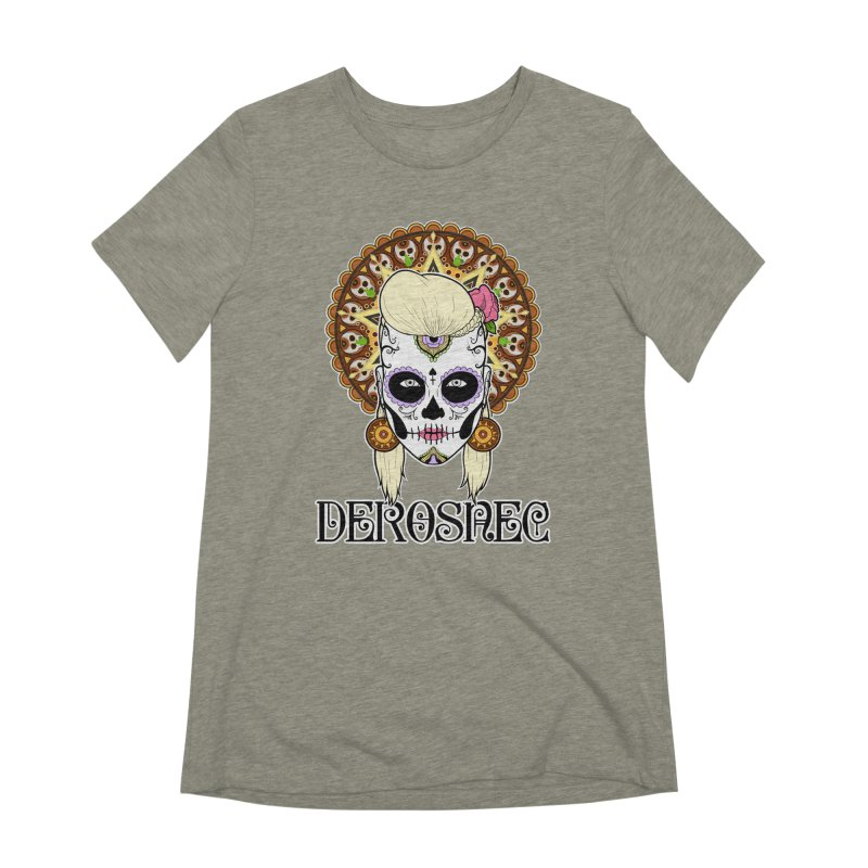 DEROSNEC - Bed of Roses, Muerta (Color) Women's Extra Soft T-Shirt by Oh Just Peachy Studios Music Store