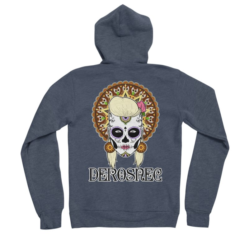 DEROSNEC - Bed of Roses, Muerta (Color) Women's Sponge Fleece Zip-Up Hoody by Oh Just Peachy Studios Music Store