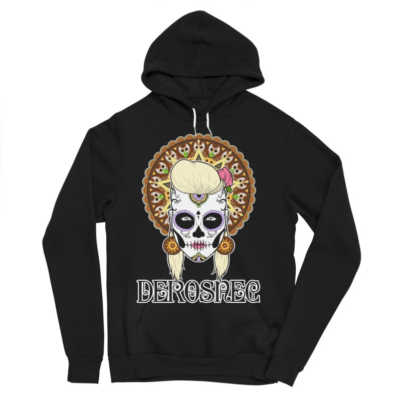 DEROSNEC - Bed of Roses, Muerta (Color) Women's Sponge Fleece Pullover Hoody by Oh Just Peachy Studios Music Store