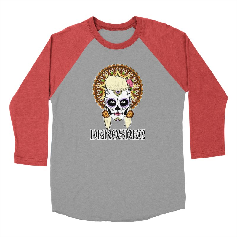 DEROSNEC - Bed of Roses, Muerta (Color) Women's Baseball Triblend Longsleeve T-Shirt by Oh Just Peachy Studios Music Store