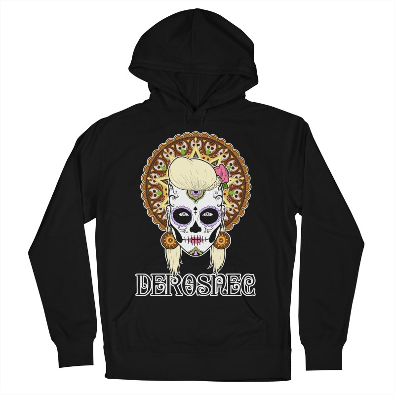DEROSNEC - Bed of Roses, Muerta (Color) Women's French Terry Pullover Hoody by Oh Just Peachy Studios Music Store