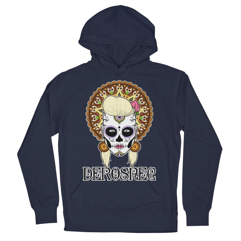DEROSNEC - Bed of Roses, Muerta (Color) Men's French Terry Pullover Hoody by Oh Just Peachy Studios Music Store