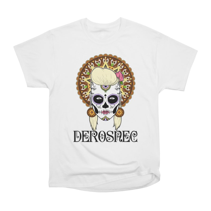 DEROSNEC - Bed of Roses, Muerta (Color) Women's Heavyweight Unisex T-Shirt by Oh Just Peachy Studios Music Store