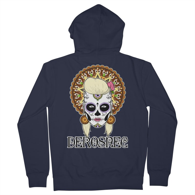 DEROSNEC - Bed of Roses, Muerta (Color) Men's French Terry Zip-Up Hoody by Oh Just Peachy Studios Music Store