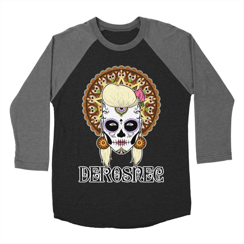 DEROSNEC - Bed of Roses, Muerta (Color) Men's Baseball Triblend Longsleeve T-Shirt by Oh Just Peachy Studios Music Store