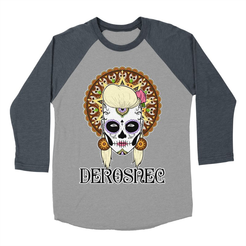 DEROSNEC - Bed of Roses, Muerta (Color) Men's Baseball Triblend Longsleeve T-Shirt by Oh Just Peachy Studios Music Store