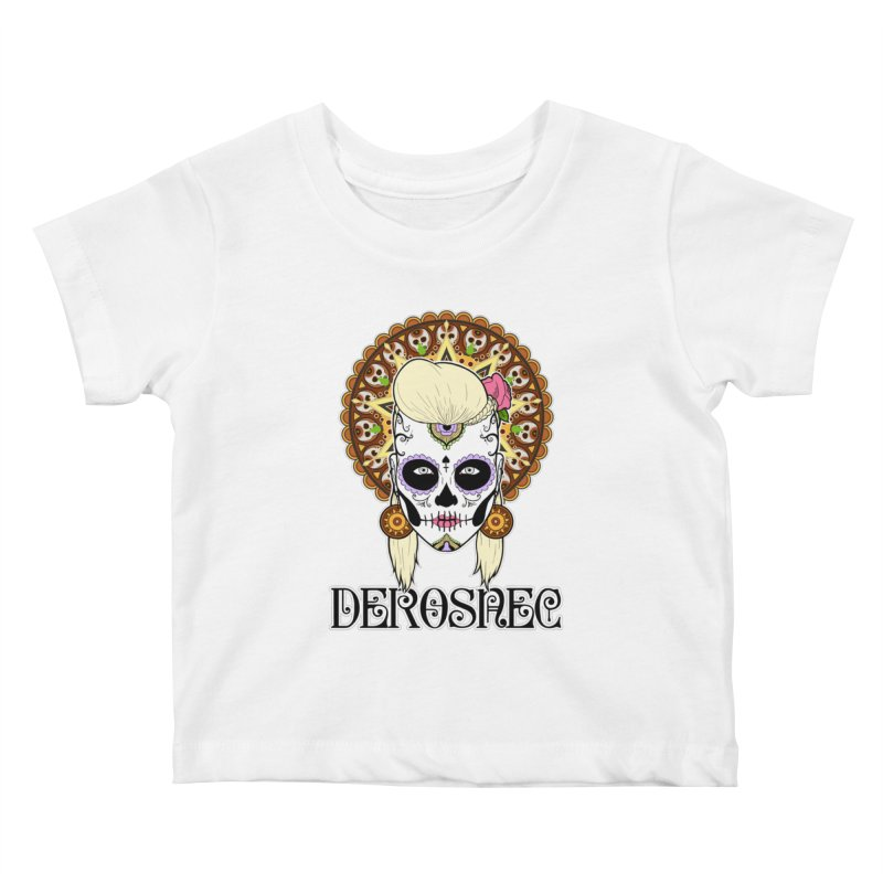 DEROSNEC - Bed of Roses, Muerta (Color) Kids Baby T-Shirt by Oh Just Peachy Studios Music Store