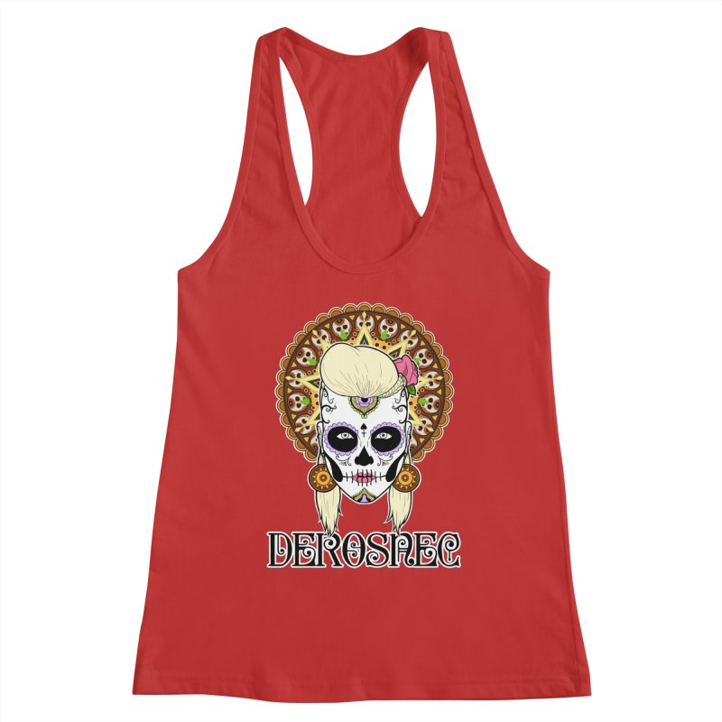 DEROSNEC - Bed of Roses, Muerta (Color) Women's Racerback Tank by Oh Just Peachy Studios Music Store
