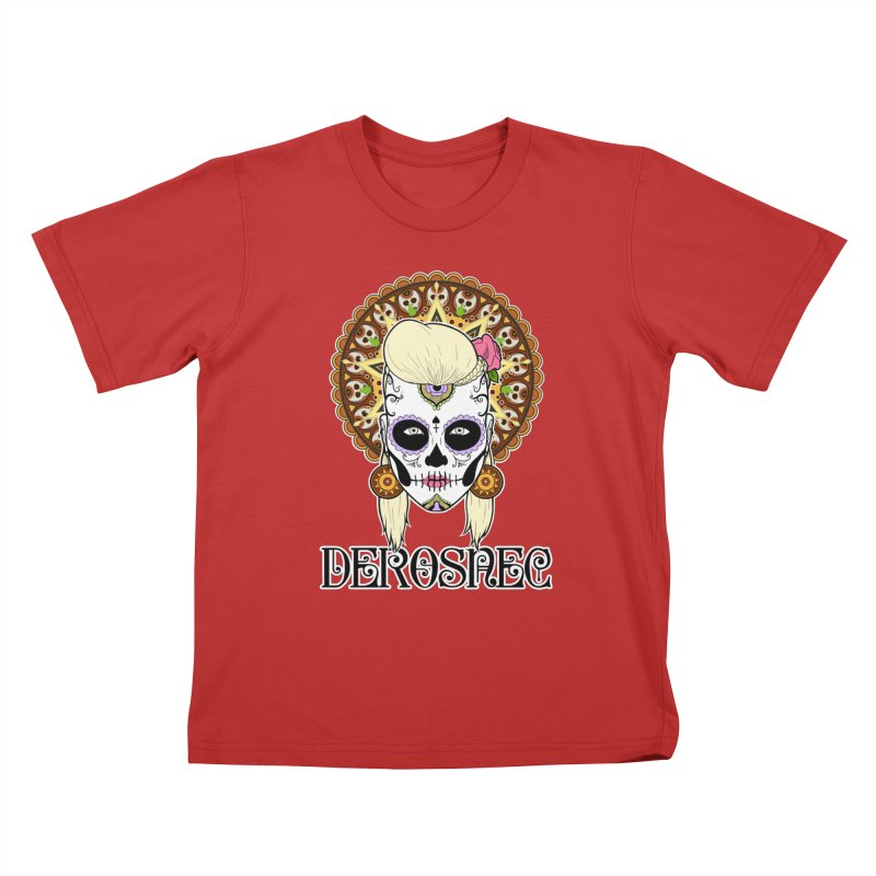 DEROSNEC - Bed of Roses, Muerta (Color) Kids T-Shirt by Oh Just Peachy Studios Music Store
