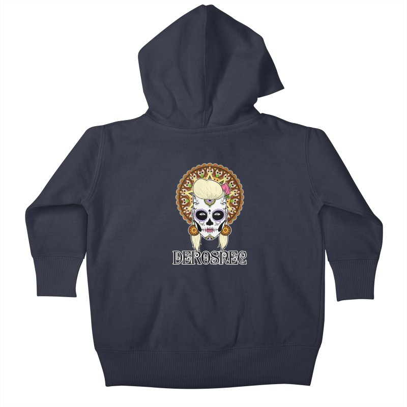 DEROSNEC - Bed of Roses, Muerta (Color) Kids Baby Zip-Up Hoody by Oh Just Peachy Studios Music Store