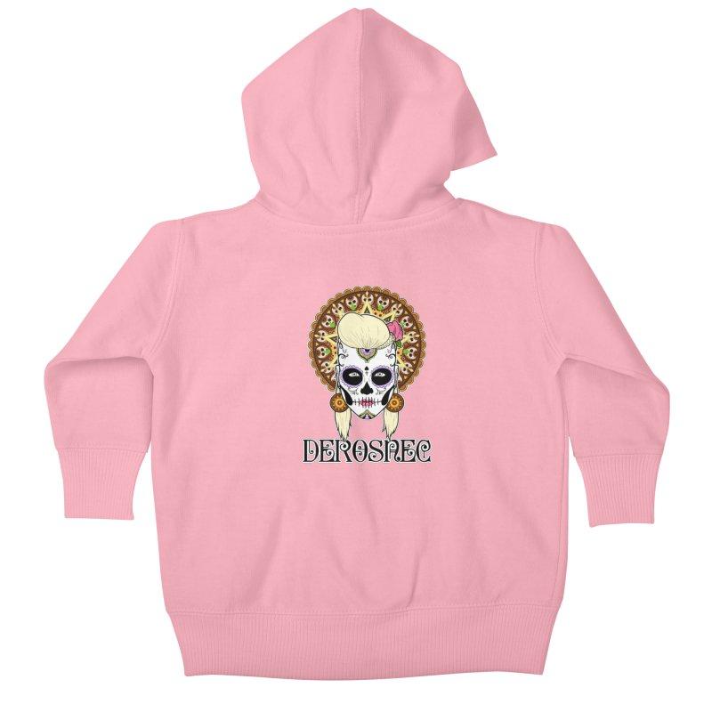 DEROSNEC - Bed of Roses, Muerta (Color) Kids Baby Zip-Up Hoody by Oh Just Peachy Studios Music Store