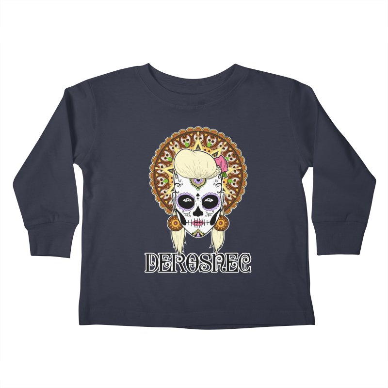 DEROSNEC - Bed of Roses, Muerta (Color) Kids Toddler Longsleeve T-Shirt by Oh Just Peachy Studios Music Store