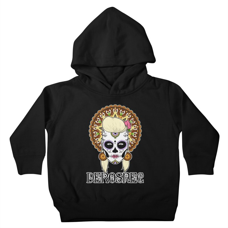 DEROSNEC - Bed of Roses, Muerta (Color) Kids Toddler Pullover Hoody by Oh Just Peachy Studios Music Store