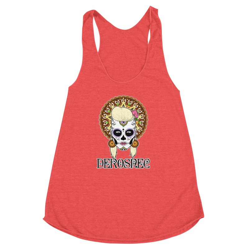 DEROSNEC - Bed of Roses, Muerta (Color) Women's Racerback Triblend Tank by Oh Just Peachy Studios Music Store