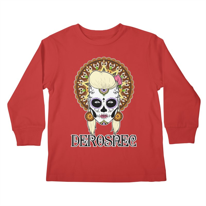 DEROSNEC - Bed of Roses, Muerta (Color) Kids Longsleeve T-Shirt by Oh Just Peachy Studios Music Store