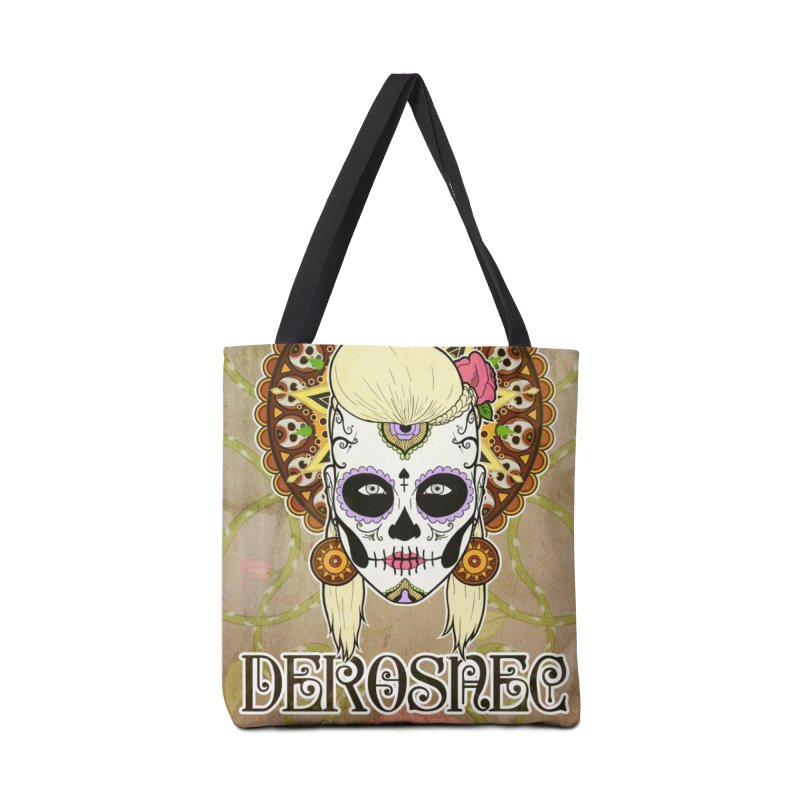 DEROSNEC - Bed of Roses, Muerta (Color) Accessories Tote Bag Bag by Oh Just Peachy Studios Music Store