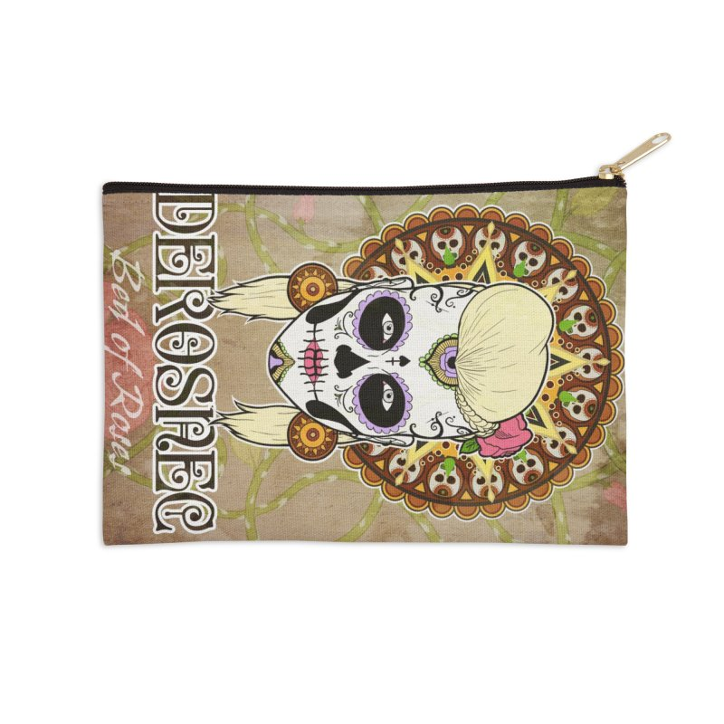 DEROSNEC - Bed of Roses, Muerta (Color) Accessories Zip Pouch by Oh Just Peachy Studios Music Store
