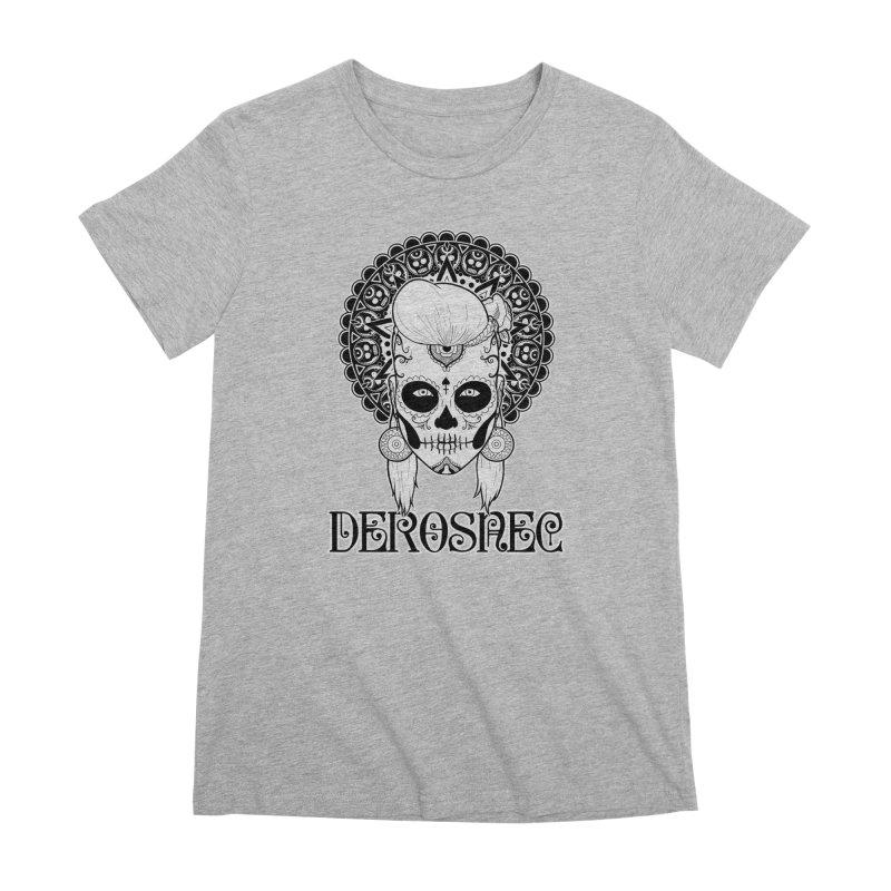 DEROSNEC - Bed of Roses, Muerta (BW) Women's Premium T-Shirt by Oh Just Peachy Studios Music Store
