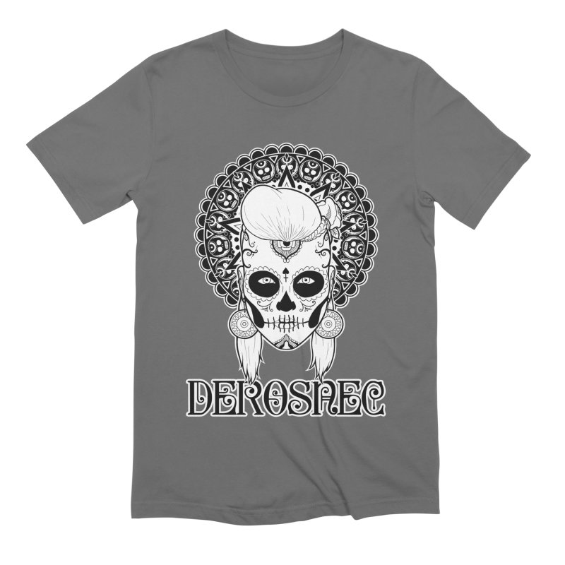 DEROSNEC - Bed of Roses, Muerta (BW) Men's Extra Soft T-Shirt by Oh Just Peachy Studios Music Store