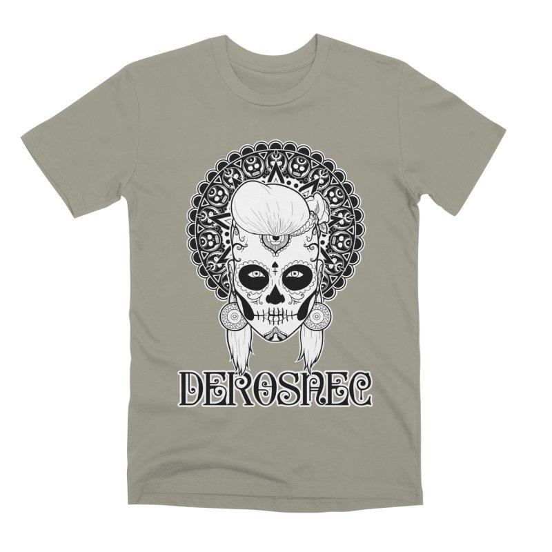 DEROSNEC - Bed of Roses, Muerta (BW) Men's Premium T-Shirt by Oh Just Peachy Studios Music Store