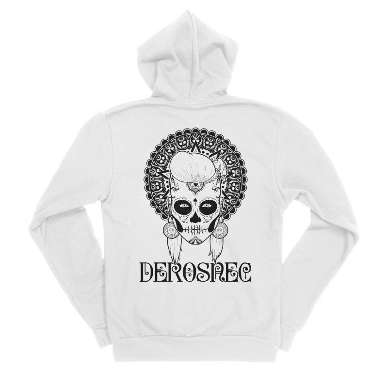 DEROSNEC - Bed of Roses, Muerta (BW) Women's Sponge Fleece Zip-Up Hoody by Oh Just Peachy Studios Music Store