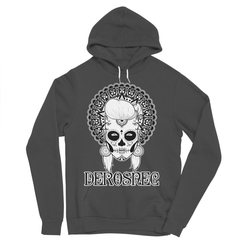 DEROSNEC - Bed of Roses, Muerta (BW) Women's Sponge Fleece Pullover Hoody by Oh Just Peachy Studios Music Store