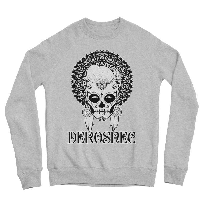 DEROSNEC - Bed of Roses, Muerta (BW) Women's Sponge Fleece Sweatshirt by Oh Just Peachy Studios Music Store