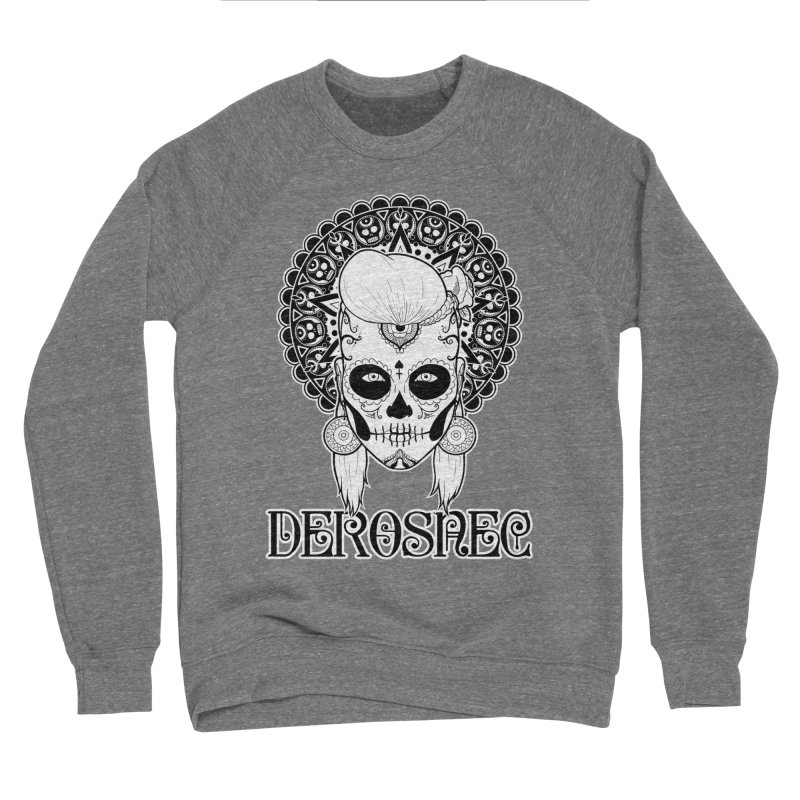 DEROSNEC - Bed of Roses, Muerta (BW) Men's Sponge Fleece Sweatshirt by Oh Just Peachy Studios Music Store
