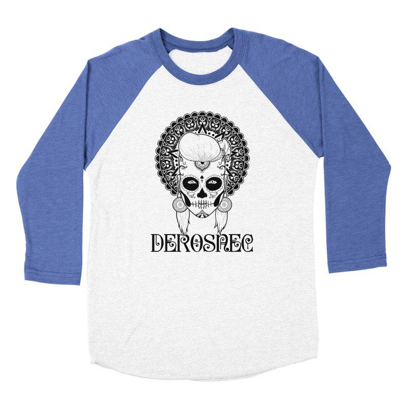 DEROSNEC - Bed of Roses, Muerta (BW) Men's Baseball Triblend Longsleeve T-Shirt by Oh Just Peachy Studios Music Store