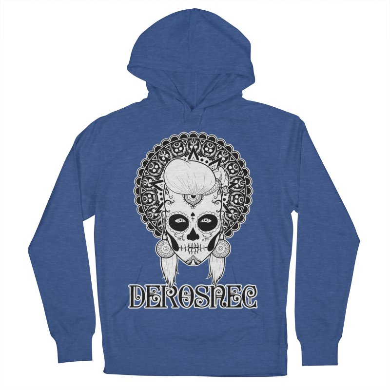 DEROSNEC - Bed of Roses, Muerta (BW) Women's French Terry Pullover Hoody by Oh Just Peachy Studios Music Store