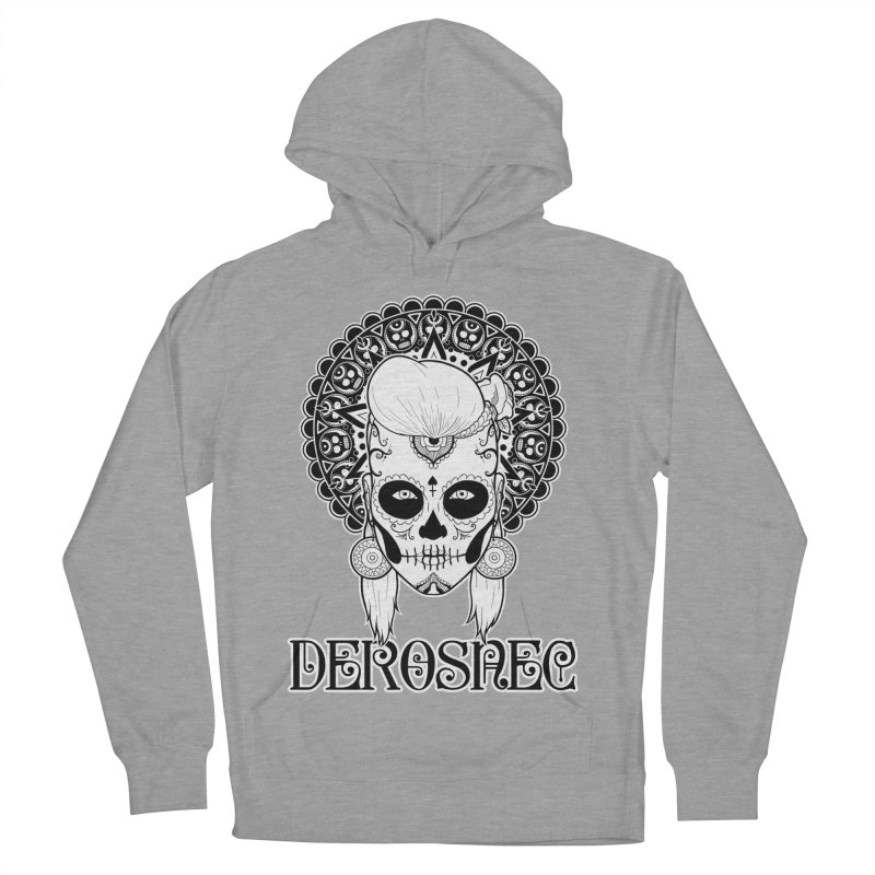 DEROSNEC - Bed of Roses, Muerta (BW) Men's French Terry Pullover Hoody by Oh Just Peachy Studios Music Store