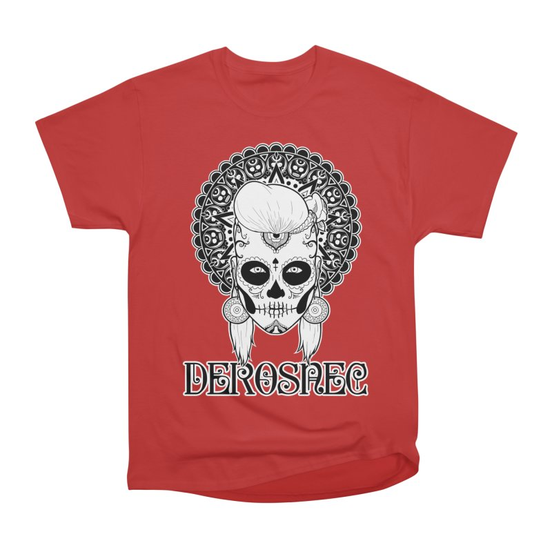 DEROSNEC - Bed of Roses, Muerta (BW) Men's Heavyweight T-Shirt by Oh Just Peachy Studios Music Store