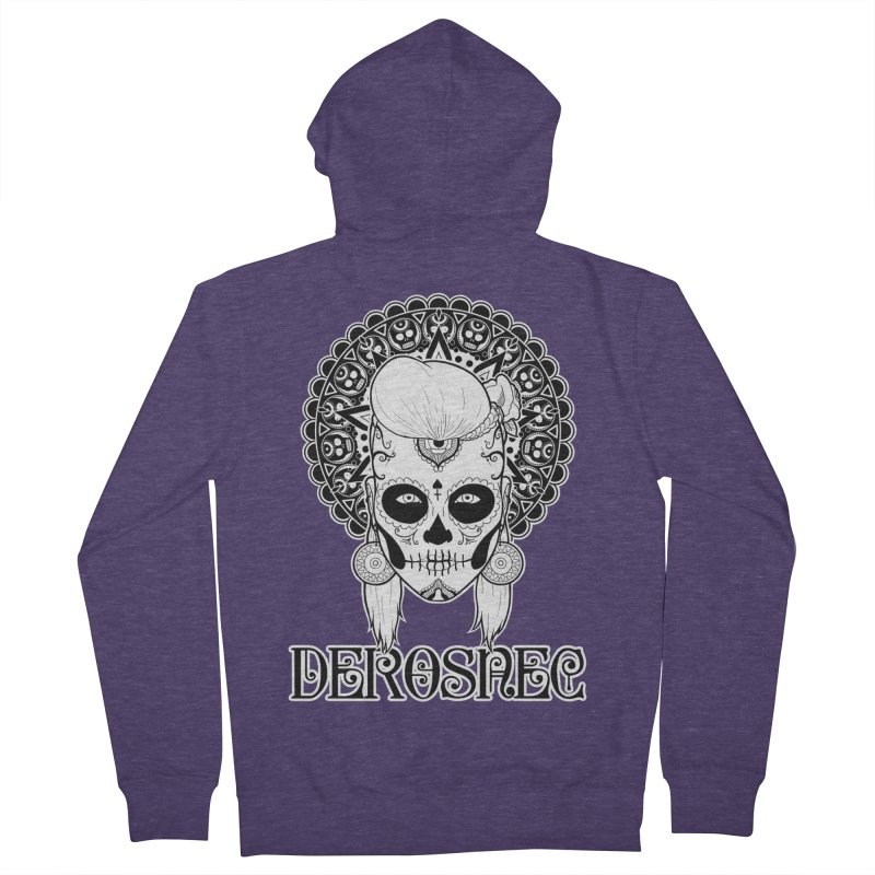 DEROSNEC - Bed of Roses, Muerta (BW) Men's French Terry Zip-Up Hoody by Oh Just Peachy Studios Music Store
