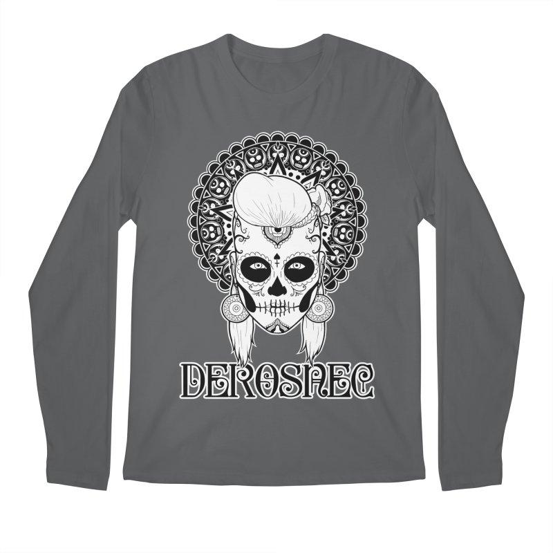 DEROSNEC - Bed of Roses, Muerta (BW) Men's Regular Longsleeve T-Shirt by Oh Just Peachy Studios Music Store