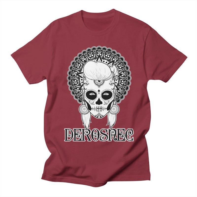 DEROSNEC - Bed of Roses, Muerta (BW) Men's Regular T-Shirt by Oh Just Peachy Studios Music Store