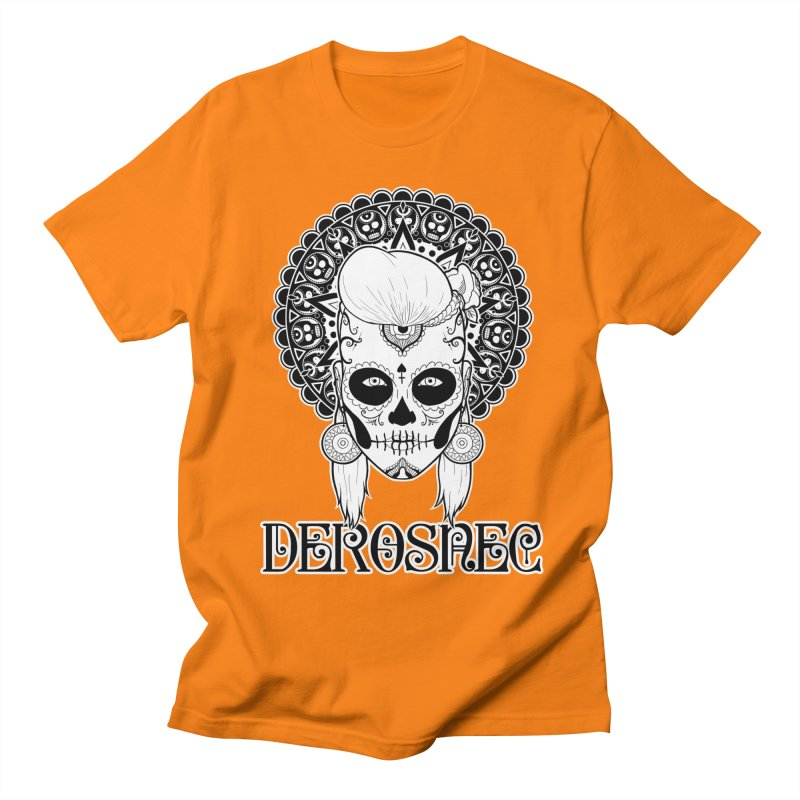 DEROSNEC - Bed of Roses, Muerta (BW) Men's Regular T-Shirt by Oh Just Peachy Studios Music Store