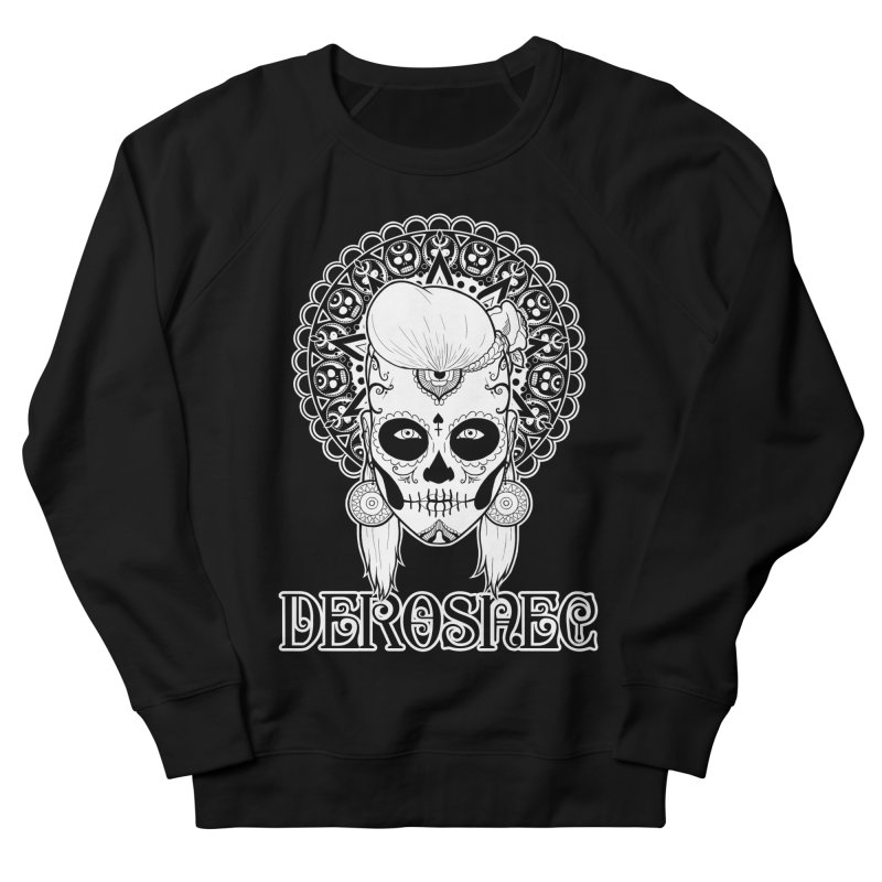 DEROSNEC - Bed of Roses, Muerta (BW) Women's French Terry Sweatshirt by Oh Just Peachy Studios Music Store