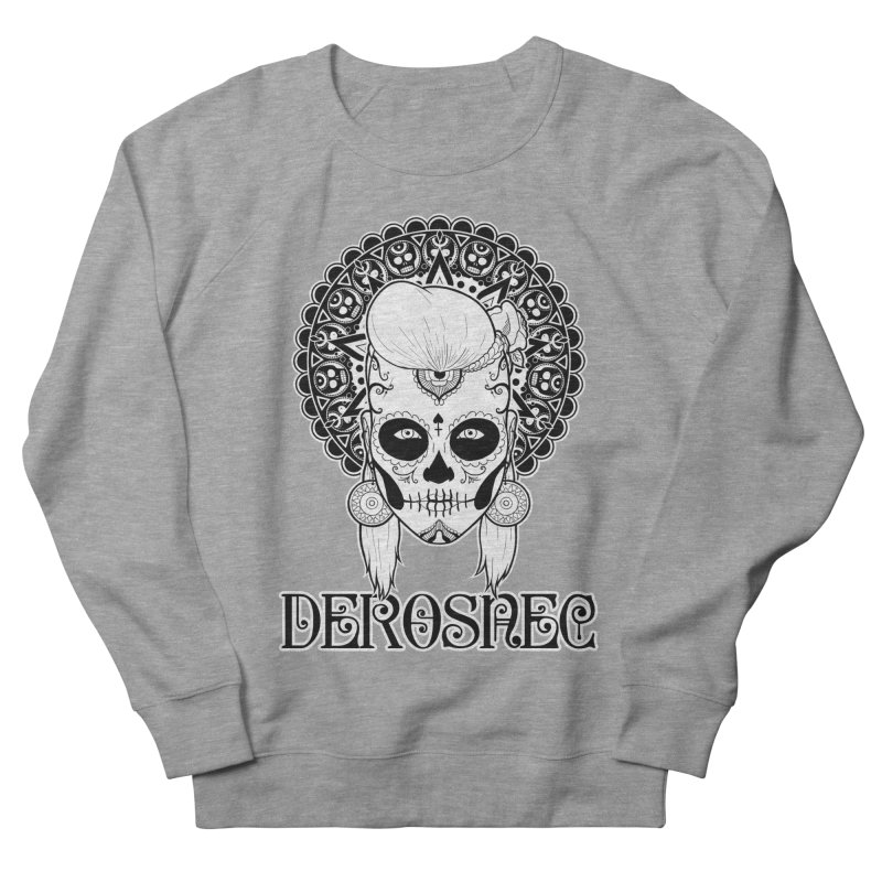 DEROSNEC - Bed of Roses, Muerta (BW) Men's French Terry Sweatshirt by Oh Just Peachy Studios Music Store