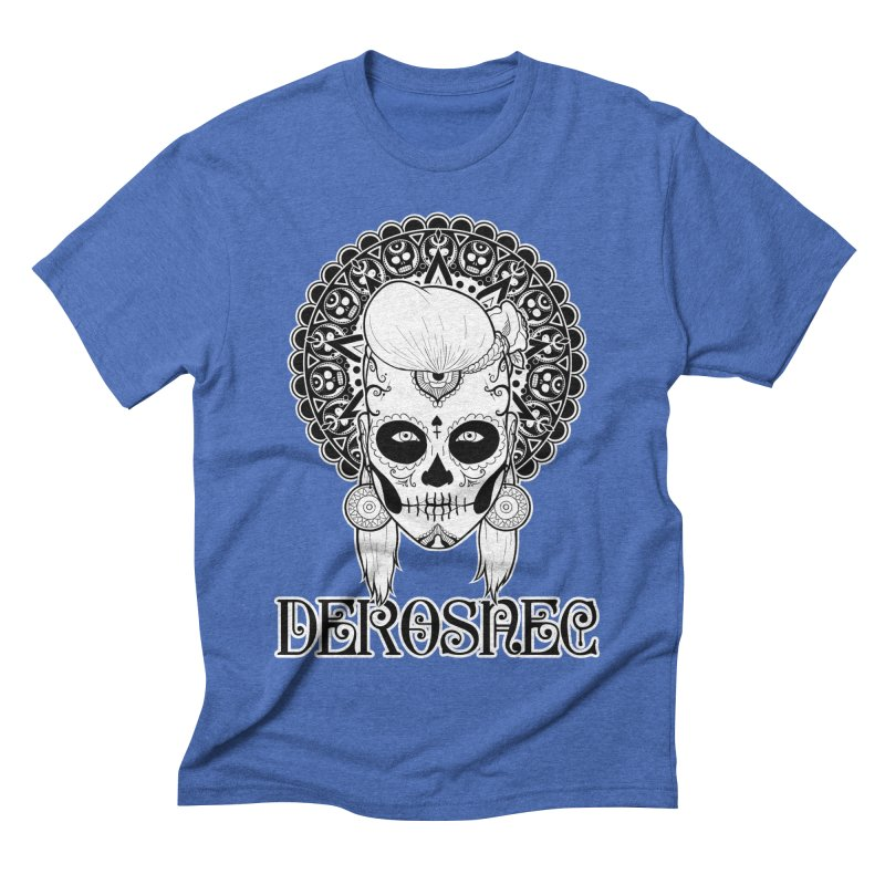 DEROSNEC - Bed of Roses, Muerta (BW) Men's Triblend T-Shirt by Oh Just Peachy Studios Music Store