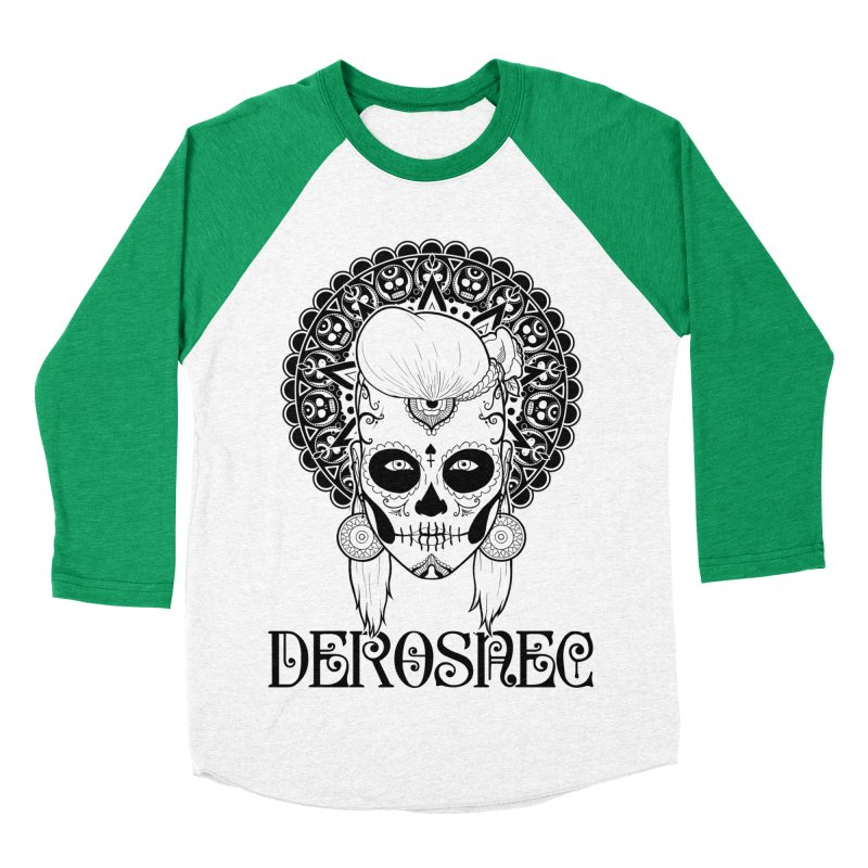 DEROSNEC - Bed of Roses, Muerta (BW) Women's Baseball Triblend Longsleeve T-Shirt by Oh Just Peachy Studios Music Store