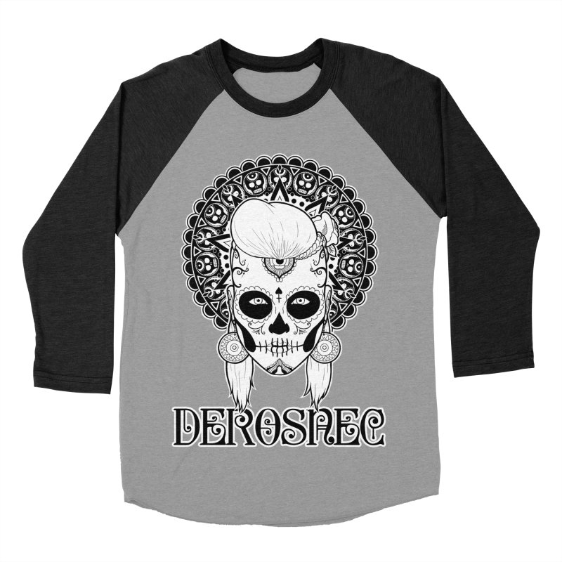 DEROSNEC - Bed of Roses, Muerta (BW) Women's Baseball Triblend Longsleeve T-Shirt by Oh Just Peachy Studios Music Store