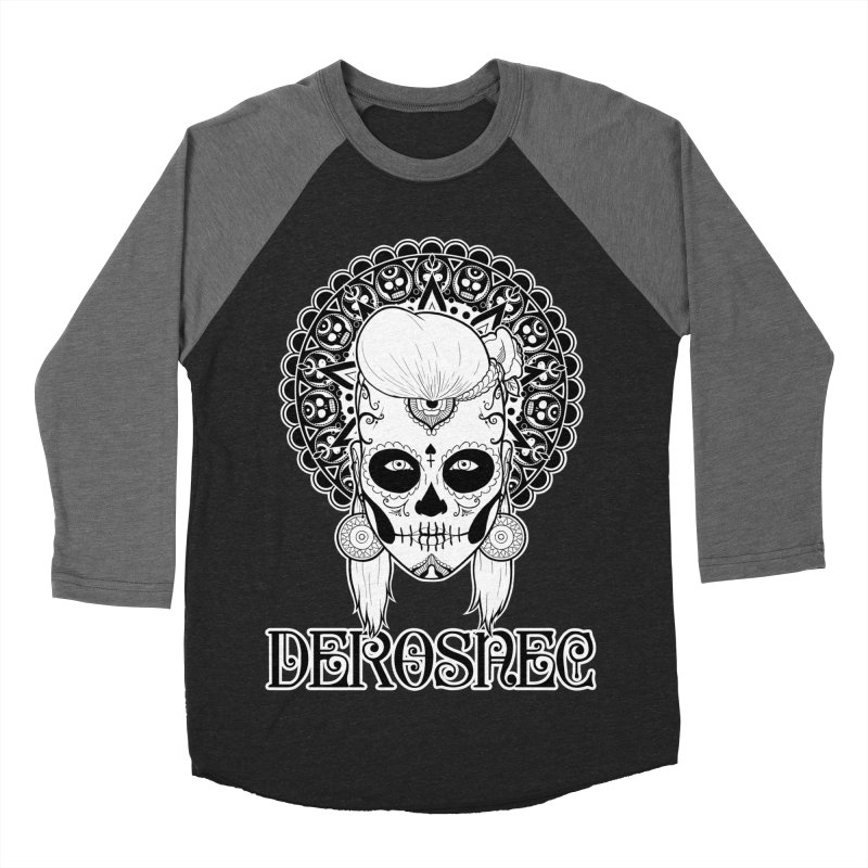 DEROSNEC - Bed of Roses, Muerta (BW) Men's Baseball Triblend Longsleeve T-Shirt by Oh Just Peachy Studios Music Store