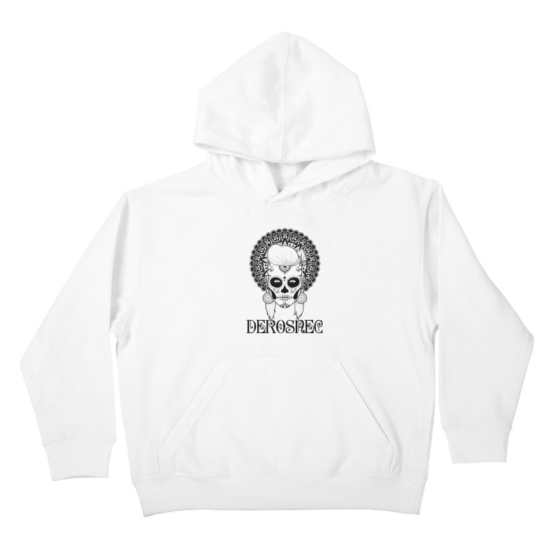 DEROSNEC - Bed of Roses, Muerta (BW) Kids Pullover Hoody by Oh Just Peachy Studios Music Store