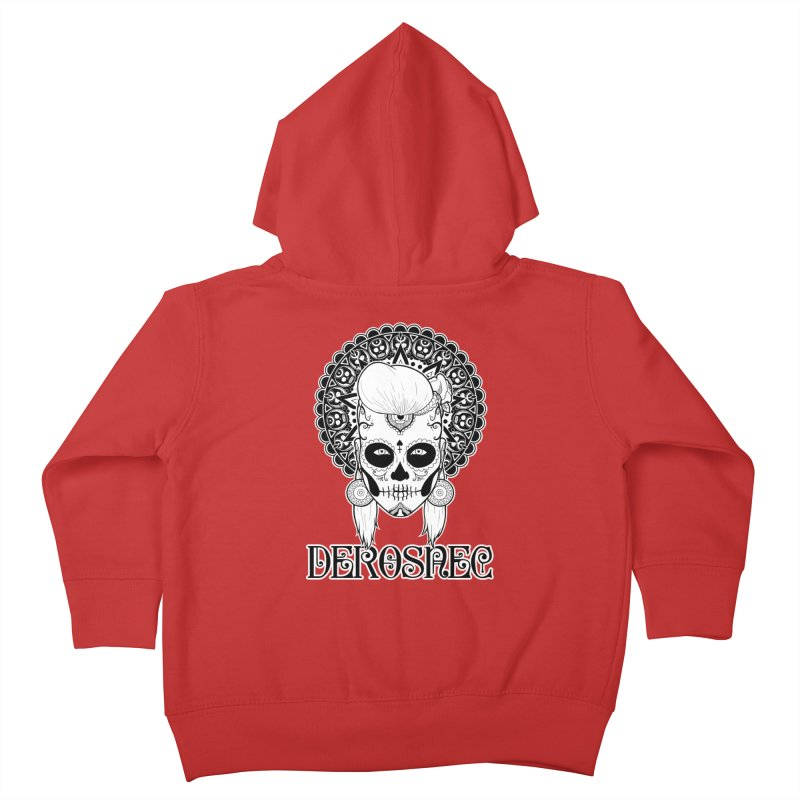 DEROSNEC - Bed of Roses, Muerta (BW) Kids Toddler Zip-Up Hoody by Oh Just Peachy Studios Music Store