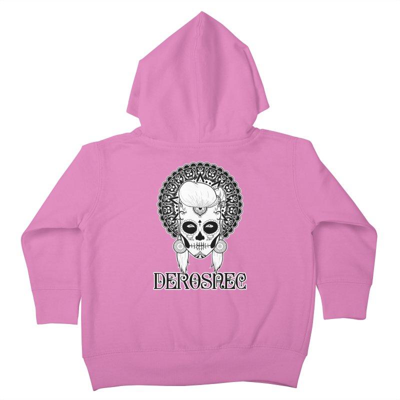 DEROSNEC - Bed of Roses, Muerta (BW) Kids Toddler Zip-Up Hoody by Oh Just Peachy Studios Music Store