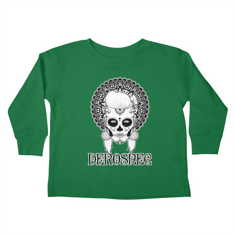 DEROSNEC - Bed of Roses, Muerta (BW) Kids Toddler Longsleeve T-Shirt by Oh Just Peachy Studios Music Store